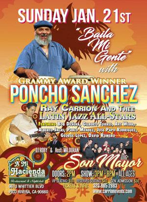Poncho Sanchez flyer VIP